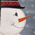 painting snowman