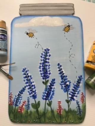 Blue Bonnet Mason Jar
