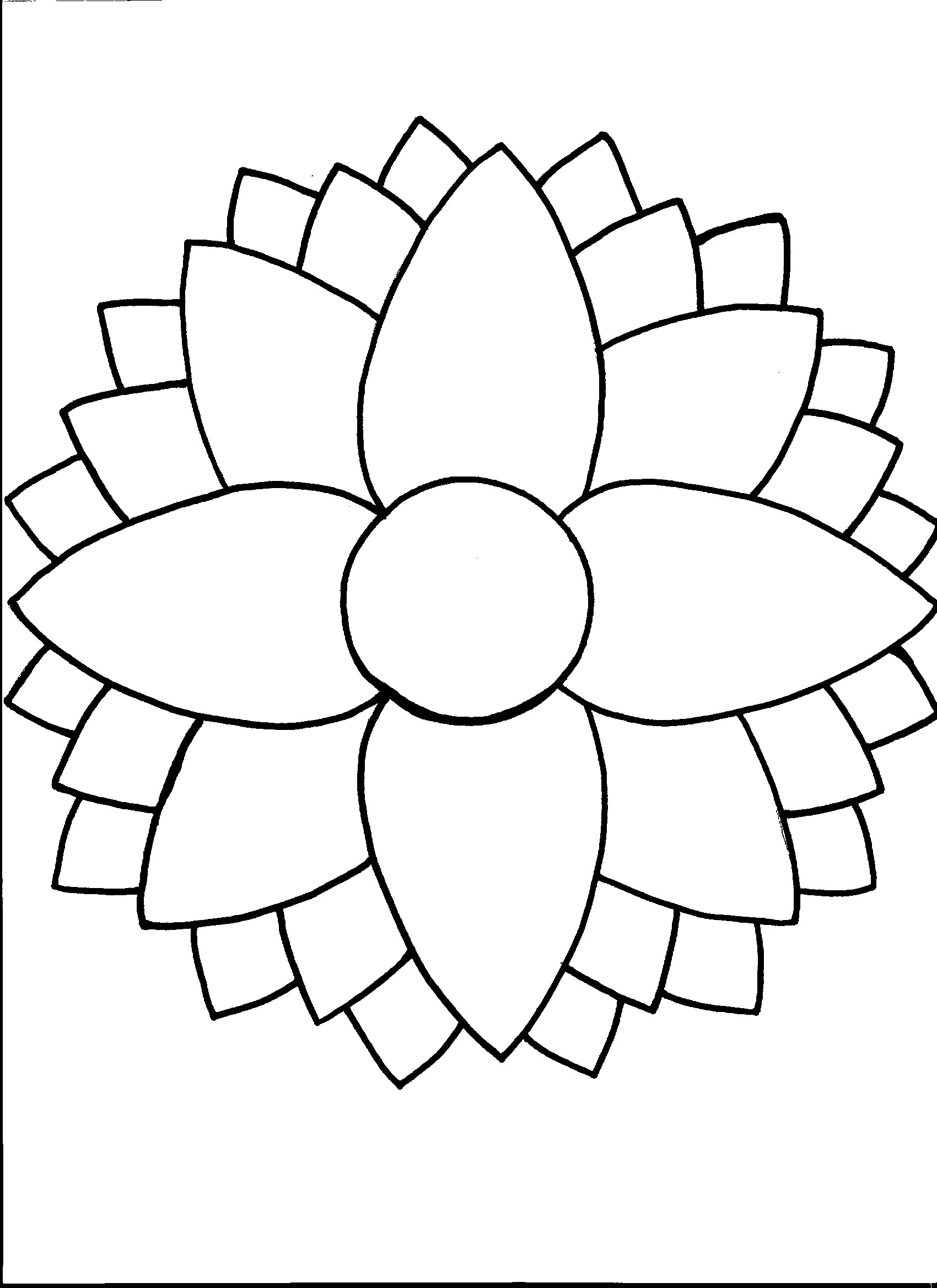 Layered Flower Template