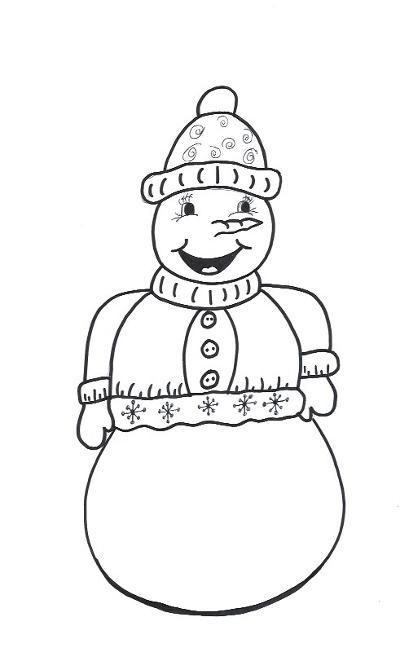 Snowman Body Template