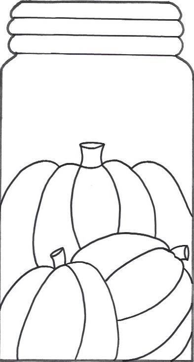 Pumpkin Mason Jar Template