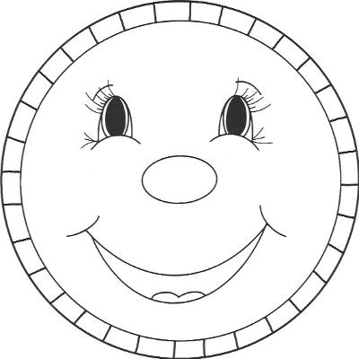 Gingerbread Face Template