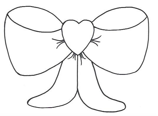 Heart Bow Template