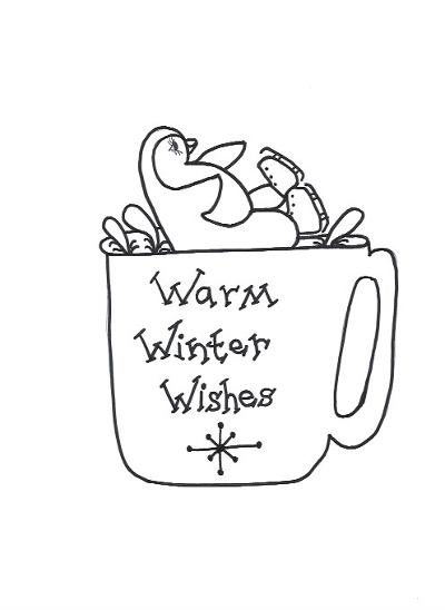 Warm Wishes Cup Template