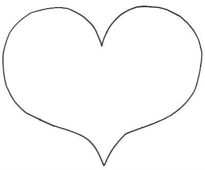 Wide Heart Template