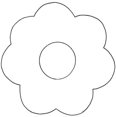 Little Girl Flower Template